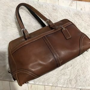 Coach Satchel Brown Leather F11198